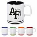 11oz ceramic mug with color banding