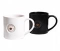 Debossed mug with printing
