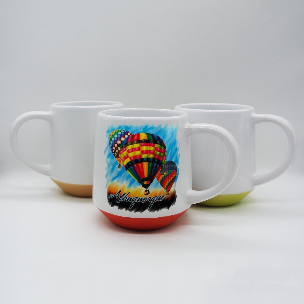 15oz  Sublimation ceramic mug with color bottom 1