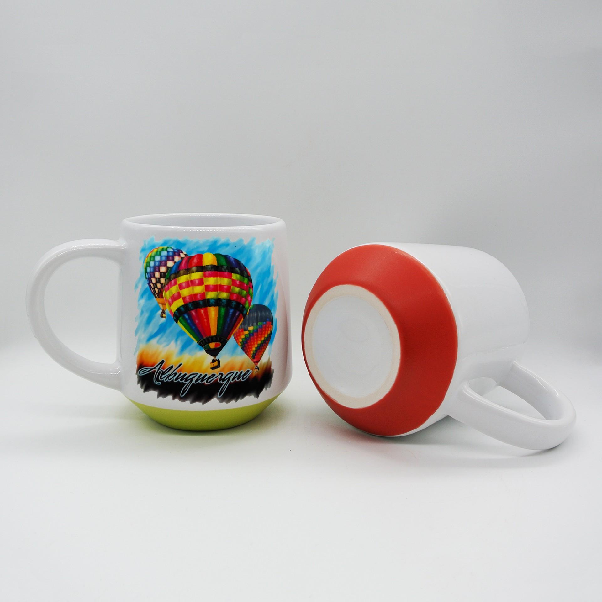 15oz  Sublimation ceramic mug with color bottom 2