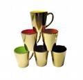 12oz conical metallic plating mugs ,