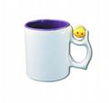 11oz two tone sublimation mug with