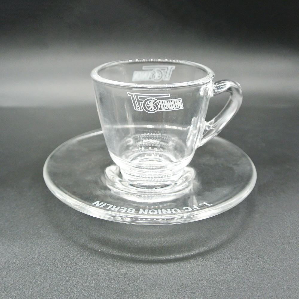Glass coffee  cup & saucer set ,2oz 1