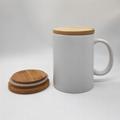 13oz ceramic mug with bamboo lid