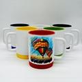 11oz sublimation silicon base mug,two