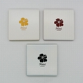 Color coated ceramic coasters for CO2