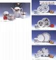 Porcelain coffee set and dinner set