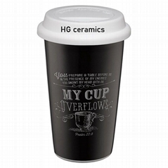 16 oz  Travel mug with chalk decal  printing