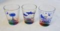 Rainbow color bottom shot glass