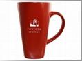 16oz square bottom latte mug