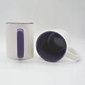 Purple color sublimation mug,11oz