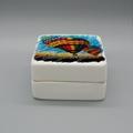 Square porcelain sublimation jewelry box