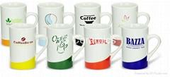 12oz color curve tea mug