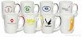 12oz color ribbon handle mug
