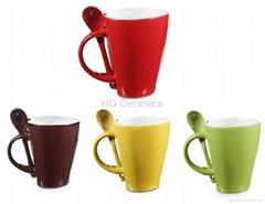 Heart shaped spoon mug