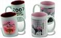 photo mug,sublimation coated  2
