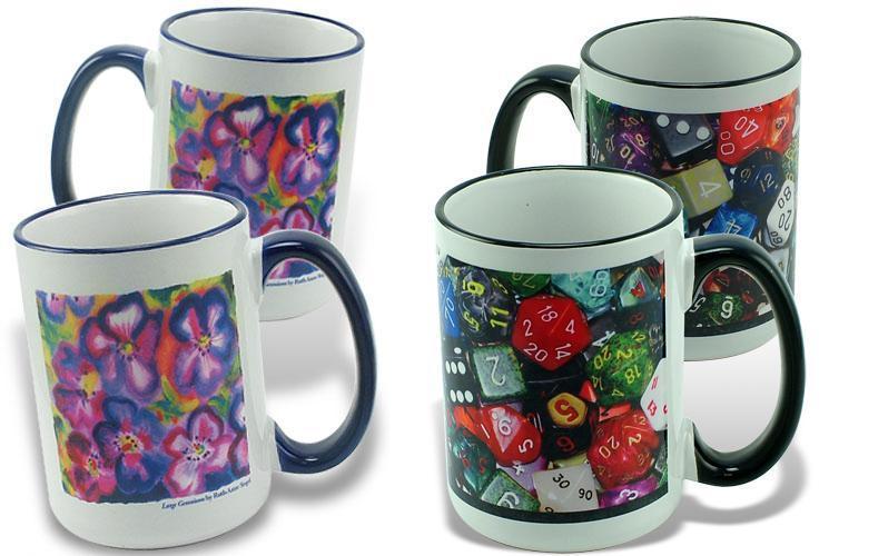 photo mug,sublimation coated  3