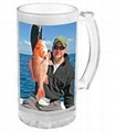 sublimation glass beer stein