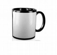 Black Mug with White Panel