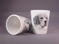 Ceramic Shot Glass, sublimation coated