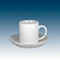 Sublimation 6oz cup with saucer