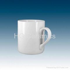 Porcelain mug, sublimation coated