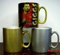 gold , si  er sublimation mugs