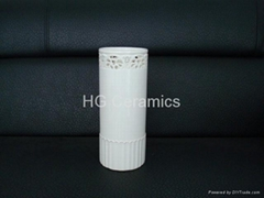 Sublimation coated ceramic flower vase