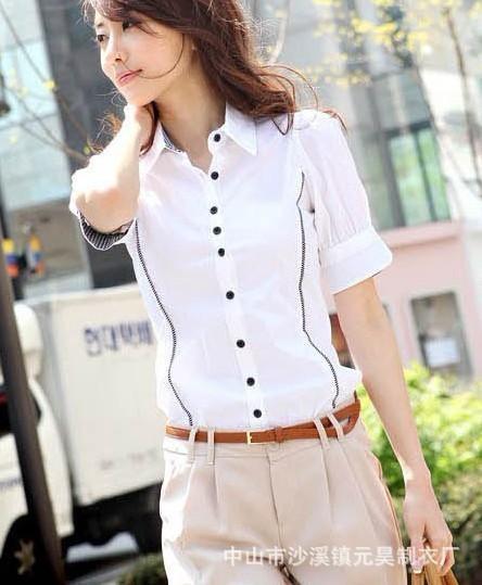 时尚短袖女式衬衣 1