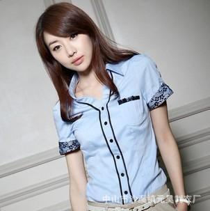 时尚短袖女式衬衣 3