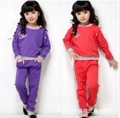 韓版秋裝儿童套裝