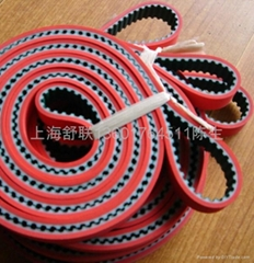 Industrial belts with re