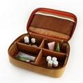 水洗牛皮纸化妆袋 多功能牛皮纸化妆包 简约大容量纯色化妆收纳袋 4