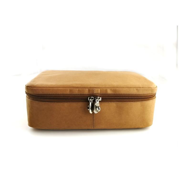 水洗牛皮纸化妆袋 多功能牛皮纸化妆包 简约大容量纯色化妆收纳袋 5