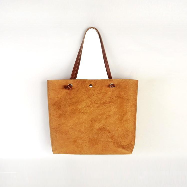 防水杜邦紙手提袋 環保休閑購物袋 可折疊手提包便攜簡約杜邦紙袋 1
