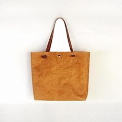 防水杜邦纸手提袋 环保休闲购物袋 可折叠手提包便携简约杜邦纸袋