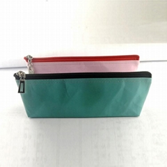 水洗牛皮紙筆袋 多功能文具用品收納袋 簡約防水純色筆袋可印logo