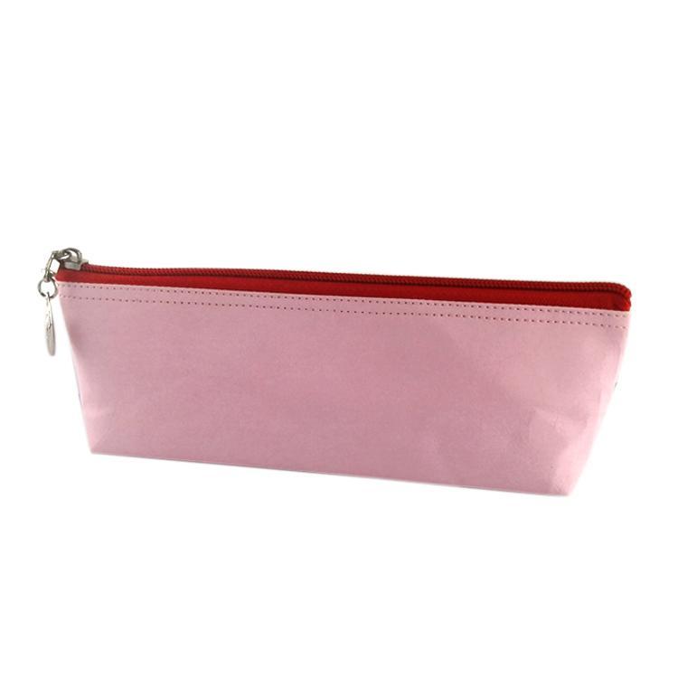 水洗牛皮纸笔袋 多功能文具用品收纳袋 简约防水纯色笔袋可印logo 5