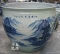 手绘青花陶瓷大缸 4