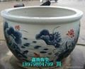 手绘青花陶瓷大缸 5
