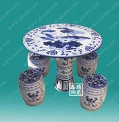景德鎮陶瓷青花瓷桌
