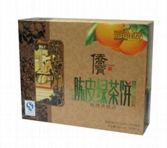 陈皮绿茶饼