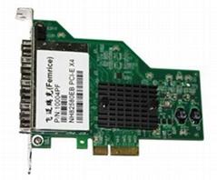 PCI-E四口光纖網卡INTEL82580EB芯片