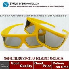 Hottest Circular Polarized Passive 3D Glasses for LG 3D TV Cinema Film