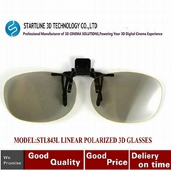 CLIP-ON 3D Linear Polarized Glasses -in 3D Movies
