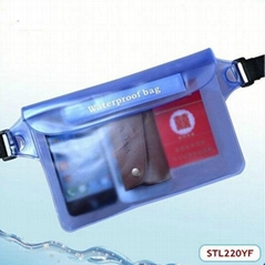 Good quality blue pvc drifting waterproof waist bag