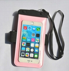 Waterproof Case for samsung note and iPhone 6 with Nylon Armband