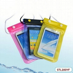 New style pvc waterproof bag with handle for samsung galaxy