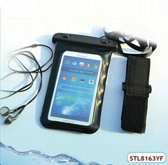 High quality pvc window waterproof mobile phone pouch