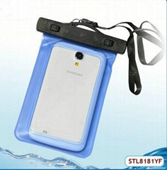 High quality pvc mobile phone waterproof case for swimming